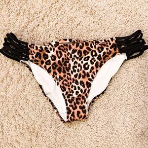 NWOT VS PINK Cheetah Bikini Bottoms